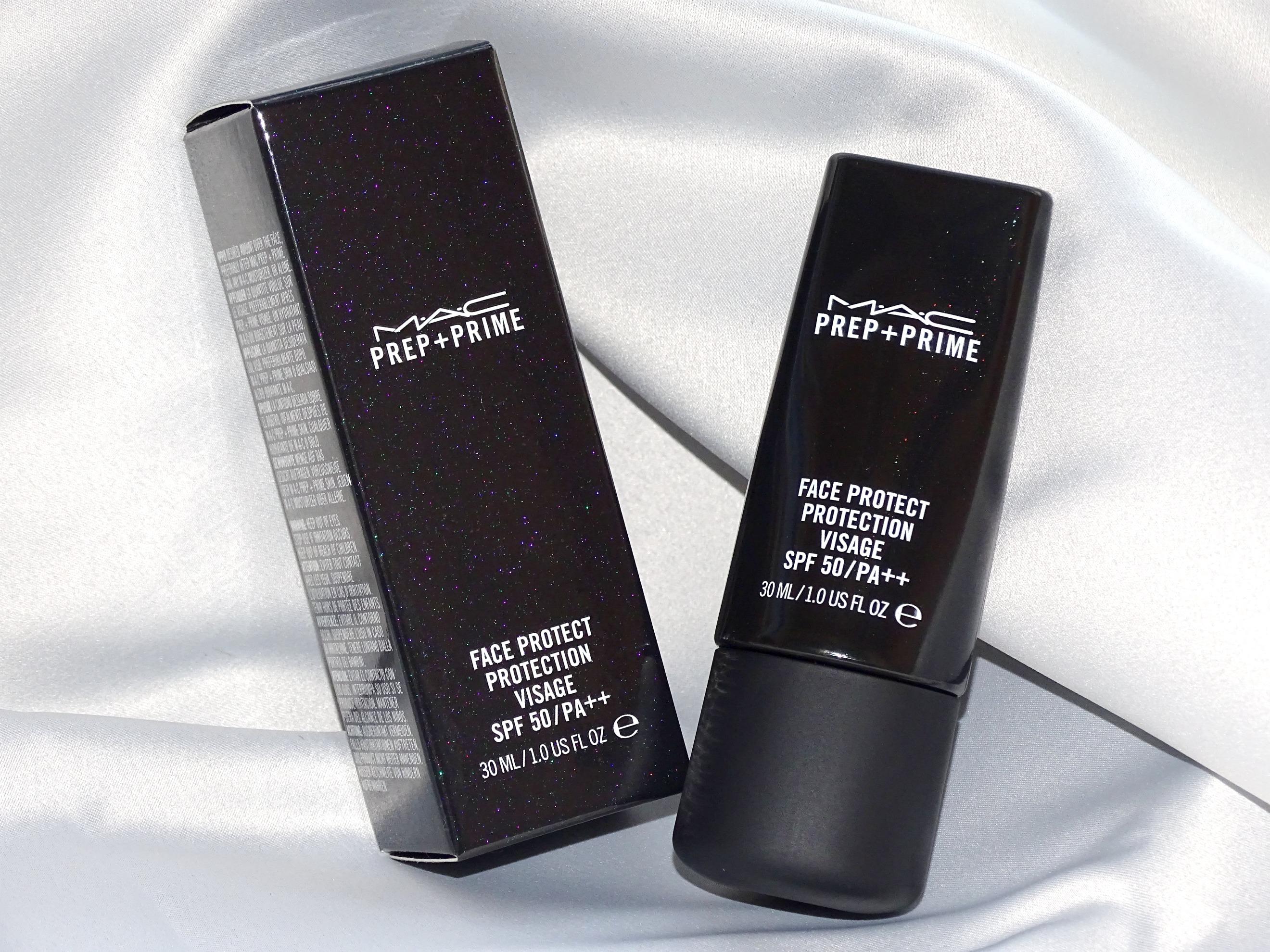 Prep + Prime Face Protect SPF 50, MAC, podkladový makeup, opaľovací krém, Letná ochrana: MAC, podkladový makeup s filtrom SPF 50